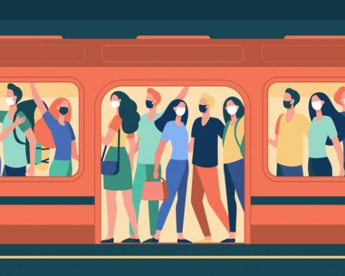 crowd-people-masks-standing-subway-train